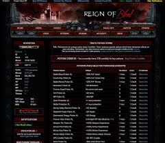 free vampire games and mmorpg reign of blood