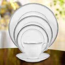 lenox pearl platinum bone china 5 place setting