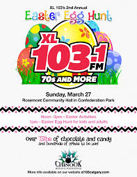 radio station xl103 is putting on their 2nd annual easter egg hunt
