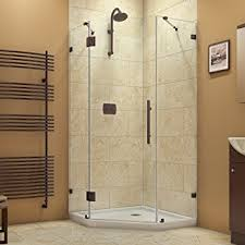 38 Shower Door Dreamline Prism 38 In D X 38 In W Frameless Hinged Shower