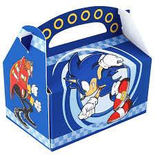 Blue Favor Boxes by Sonic The Hedgehog Empty Favor Boxes Birthdayexpress