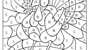 thanksgiving printable coloring pages color by letter turkey great