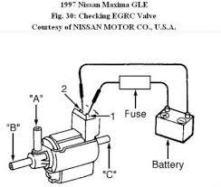 1997 nissan maxima p1400 egr control solenoid problem