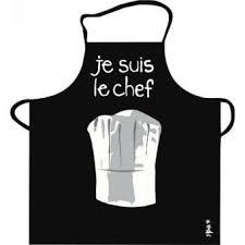 le chef en cuisine tablier de cuisine noir je suis le chef pvc incidence achat