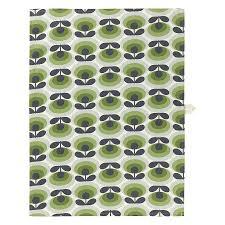 orla kiely 70 u0027s oval flower tea towels set of 2 jarrold norwich