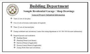 Garage And Shop Plans Sample Residential Garage Shop Drawings City Of Milwaukie Oregon