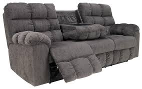 Nebraska Furniture Mart Living Room Sets Reclining Sofa With Drop Down Table And Cup Holders By Signature