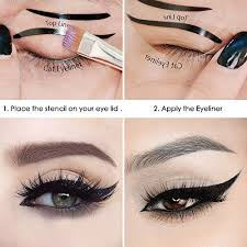 eyeliner template nuolux eyeliner stencil shaper makeup tool for