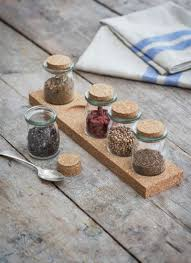 Spice Rack Including Spices Cork Spice Rack With Five Jars Glass Garden Trading