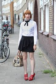 White Blouse With Black Bow Black Pussybow White Shirt Lookbook