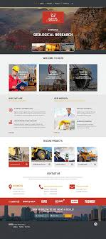 responsive web design layout template geological research website template themes business