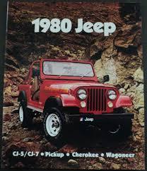 jeep cherokee 1980 jeep cj5 cj7 pickup cherokee wagoneer sales brochure ladero eagle