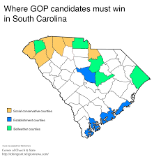 Map Of Carolinas Republican Map Of South Carolina Three Regions To Watch During