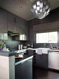 Simple Kitchen Wall Units Kitchen Brown Tile Flooring Brown Base Cabinets Gray