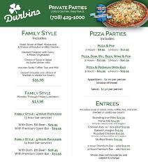 The Patio Orland Park Menu by Private Parties Durbins Pizza