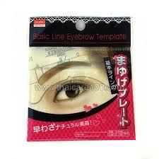 to create the perfect eyebrow basic line eyebrow template daiso