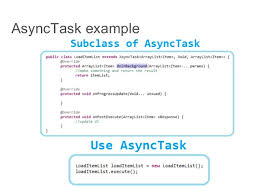 asynctask android exle android thread handler and asynctask