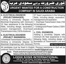 electrical engineering jobs in dubai for freshers jobs open 2014 visa free in saudi arabia leading construction