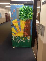 catholic schools week door decorating classroom wall