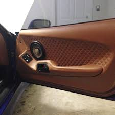 custom supra interior 95 supra custom door panel little diamond stitch peanut butter