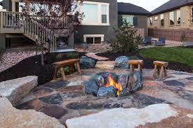 Rustic Firepit Rustic Rocks Outdoor Pit Ideas For Your Backyard Modern Garden