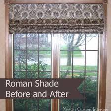 Roman Shades And Valances Roman Shade Before And After Newton Custom Interiors