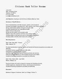 Best Resume Job Objectives by Best Resume Sample For Bank Teller Job Vacancy With Listed Work