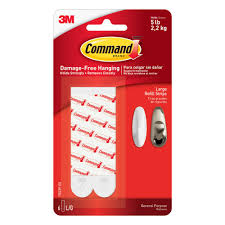 command 3 lb medium picture hanging strips 6 sets of adhesive
