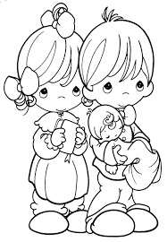 coloring picture of baptism child coloring