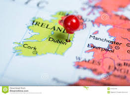 red push pin on map of ireland stock photo image 47254783