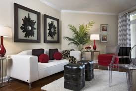 home design living room wallpaper ideas red white black