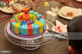 rainbow birthday cake stock photo getty images