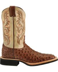 Justin Rugged Tan Gaucho Justin Aqha Full Quill Ostrich Cowboy Boots Square Toe Country