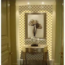 Tiled Bathroom Shower Glass Mirror Mosaic Tile Sheets Gold Mosaic Bathroom Shower Wall