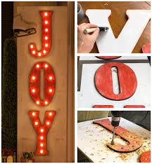 how to make christmas joy diy marquee letters with lights
