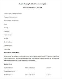 Sample Nursing Resumes by Resume Samples Cna Resume Cv Cover Letter Examples Of Lpn Resumes