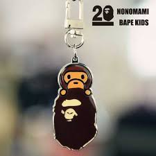 baby keychain a bathing ape bape baby milo metal keychain keyring pendant key