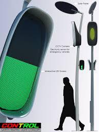 Solar Traffic Light - traffic lights gets smarter yanko design