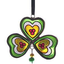 ornament stained glass shamrock