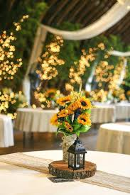 centerpieces for quinceanera decorations centerpieces rustic sunflowers and black lantern