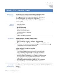 Transportation Security Officer Resume Security Guard Resumes Free Resume Example And Writing Download
