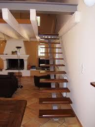 escalier design bois metal marches bois sur structure métal menuiserie md marseille