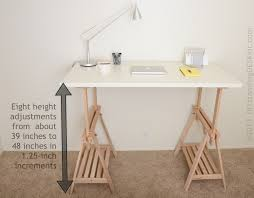 diy standing desk kit adjustable leg details