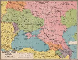 Russian Map European Russia South Political