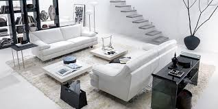 Table Behind Sofa by Bright Living Room Natuzzi Peter With White Sofa Glass Table
