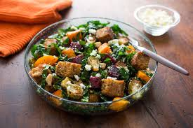 vegetarian thanksgiving bread salad inspired by the