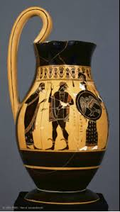vasi etruschi pittore di amasis ercole presentato a poseidone etruschi vasi