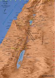 Biblical Map Of The Middle East by Map Of The Ministry Of Jesus Bible History Online