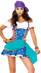 Women Pirate Halloween Costumes Blue Gypsy Disney Fancy Dress Women Pirate Halloween Costume
