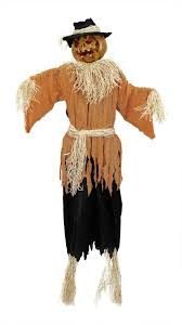 scarecrow halloween amazon com 6 u0027 lighted and animated creepy jack o u0027 lantern